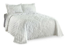 Collections Etc Trellis Damask Chenille Bedspread