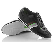 Boss Hugo Shoes Sneakers Black Mens Men Leather Size Casual Lace Green Fashion