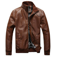 New Fashion Men's Jacket pu leather motorcycle coats jackets washed leather coat