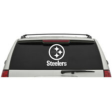 Pittsburgh Steelers Rear Car Truck Window Glass Vinyl Logo & Name Sticker Decal