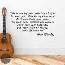 Bob Marley Wake Up And Live Song Lyrics Quote Vinyl Wall Decal Sticker Decor