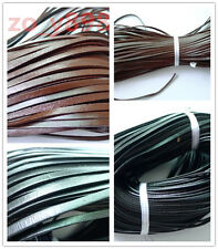 Fashion 5mm*2mm Necklace Bracelet Making Real Genuine Leather Thong Cord Flat #4