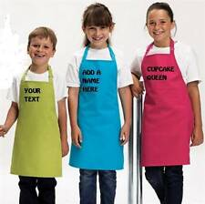 KIDS   BOYS  APRON PERSONALISED PRINTED YOUR TEXT 12 COLOURS 2 SIZES FREE P&P