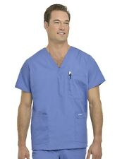 Scrubs Landau Mens Mens Men's 5-Pocket Scrub Top 7489 CEIL BLUE