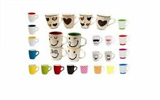 Set of 6 Bright Plain Colour Porcelain Mugs Tea Coffee Hot Chocolate Drink Cups