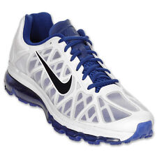 Nike Air Max+ 2011 Mens Size Running Shoes White Deep Royal Sneakers 429889 104