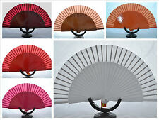 Spanish flamenco wooden hand fans eventails fächer ventagli abanicos mix colours