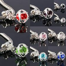 Wholesale Crystal Rhinestone Silver Evil Eyes Loose Beads Fit EP Charms Bracelet