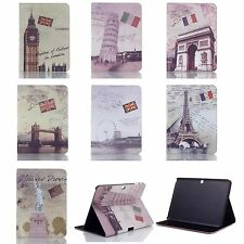 "10.1"" PU Leather Case Stand Cover for Samsung Galaxy Tab 4 T530 Landmark Design"