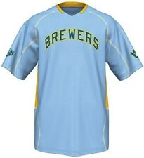 Milwaukee Brewers MLB Majestic Vintage Mens Champ Jersey Blue Big & Tall Sizes