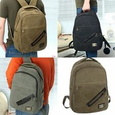 Fashion Korean Men Casual Canvas Backpack Schoolbag Book Bag Handbag 3 Colors