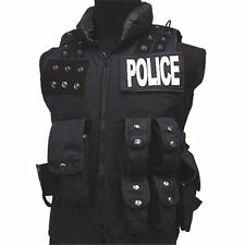 Utility Airsoft Combat Vest SWAT WG Black Police Tactical Vest Costume Molle