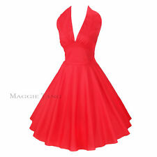 Maggie Tang 50s 60s Vintage Swing Rockabilly Petticoat Dress Ball Gown 504RD