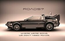 Back to the Future Delorean BTF01 Giant Large Wall Poster A0 A1,A2,A3,A4