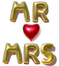 Giant 40'' MR & MRS Wedding Foil Balloon Letters and Engagement + Anniversary