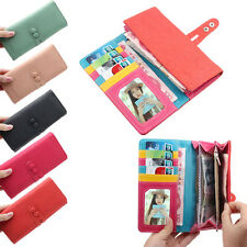 Fashion Women Korean Cute Candy Soft Leather Change Purse Long Wallet Original