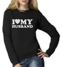 I Love My Husband Women Sweatshirt For Valentine's Day Matching Couples Set Love