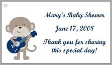 Personalized ROCKSTAR MONKEY Baby Shower Favor Labels - Several Designs