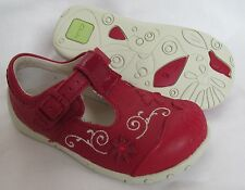 BNIB Clarks Girls Pippy Bay Red Leather First Shoes E, F, G & H Fitting