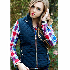 Designer Style Quilted Vest - Navy or Tan - Boutique Goods - FAST Free Shipping