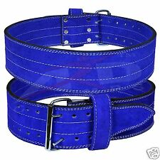 ARD Genuine Leather Power Heavy Duty Weight Lifting Body building Belt Blue