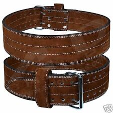 ARD Genuine Leather Power Heavy Duty Weight Lifting Body building Belt Brown