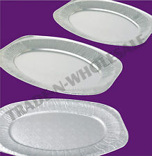 SILVER FOIL PLATTERS, SMALL, MED & LARGE EMBOSSED OR SMOOTH, PARTY, FOOD PLATTER