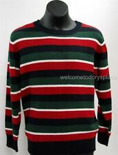 Gymboree SNOW CHILLIN Boys Striped Knit Pullover Sweater M 7-8 7-8 yrs NEW NWT