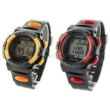 Child Boy Girl Kids Sports Electronic Waterproof Multifunction Watches 5 Colors