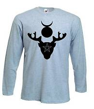 HORNED GOD T-SHIRT - Pagan Wicca Witch Druid Wiccan - Choice Of 4 Colours
