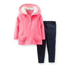 Carters 18 24 Months Fleece Hoodie & Leggings Set Baby Girl Clothes Outfit Pink