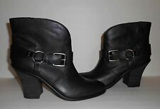 LUCKY BRAND Emily Women's Black Leather Harness Boots NEW/Minor Defects sz US 10
