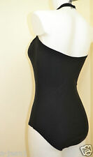 NEXT NEW BLACK REMOVABLE HALTER NECK SWIMSUIT, SWIMMING COSTUME