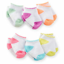 Carters Newborn 3 12 24 Months 6-pk Scalloped Socks Baby Girl White