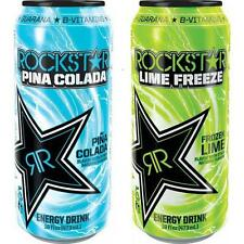 New Rockstar Lime Freeze and Pina Colada - 8 pack