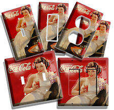 RETRO SEXY LADY COCA-COLA LIGHT SWITCH POWER OUTLET WALL PLATE COVER ROOM CC ART