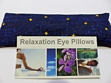 COTTON EYE PILLOW flaxseed / linseed- Out of this World - Night Stars - YOGA