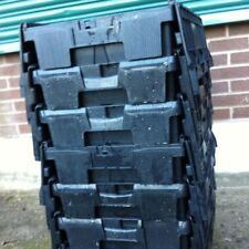 5 x LARGE PLASTIC STORAGE BOXES/CRATES GARDENING/REMOVALS STACKABLE TOTES