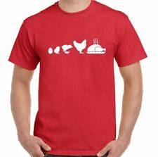 Chicken To Egg Evolution - Mens Funny T-Shirt Cooking BBQ Gift Present Cook