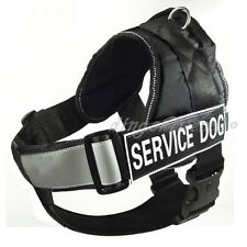 NEW Unisex Service Dog Harness Big Dog Vest Removable Chest Plate Velcro Patches