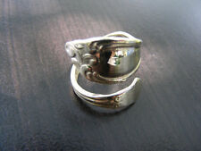S131 New Sterling Silver Antique Style Spoon Ring