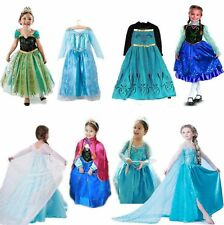 Frozen Gril vestito princess Elsa Anna ragazza Cosplay Birthday Party Formal 2-9