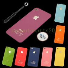 8 Color Replacement Back Glass Rear Battery Cover for Apple iPhone 4 4S