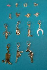 Memory Living Locket Floating Charms Clips Dangles Cowboy Western