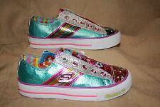 GIRLS SKECHERS SPORTY SHORTY LIGHT UP SHOES-SEE LISTING FOR SIZES (4)