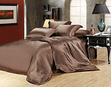 100% Silk Sheets-22 MM Heavy Weight 4 pc Mulberry Silk Set Queen & King 5 colors