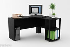 L Shaped Corner Desk Workstation Computer Home Office Executive Gaming Table
