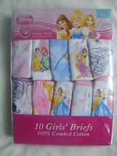 BRAND NEW PACK OF 10 DISNEY PRINCESS MY LITTLE PONY GIRLS BRIEFS KNICKERS PANTS