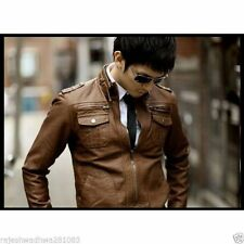 Leather Jacket Winter SALE New Men's Slim Fit Designed Casual PU Warm Wool