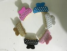 Stunning Small Diamante Hair Clip Claw Clamp Grip Butterfly/Fish Clip
